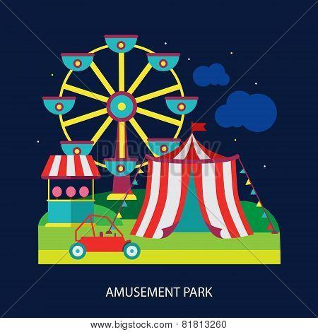 kids circus fun fair illustration vector