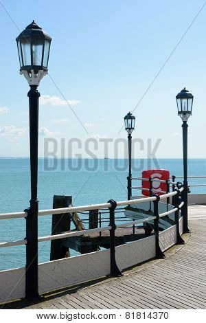 Worthing Pier With Sea. England