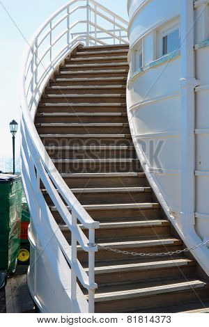 Steps On Worthing Pier. England