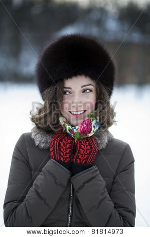 Smiling Lady With A Natural Makeup