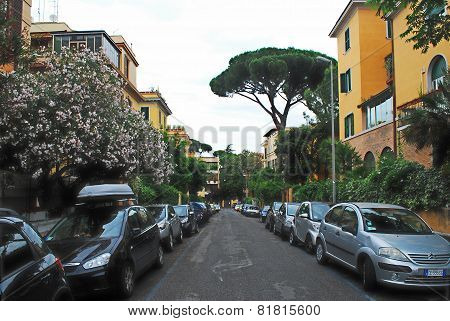 Rome City Life. View Of Rome City On May 31, 2014