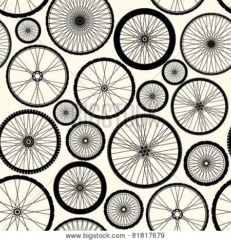 Pattern of bicycle wheels.