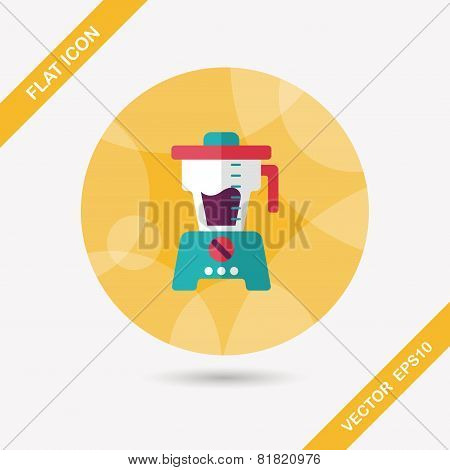 Kitchenware Juicer Flat Icon With Long Shadow,eps10