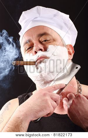 Chef Shaves With Chopper