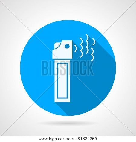 Tear pepper spray flat vector icon