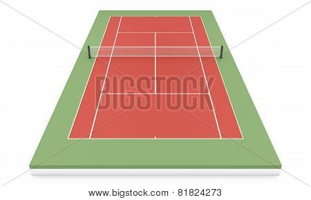 3D Illustration Tennis Court