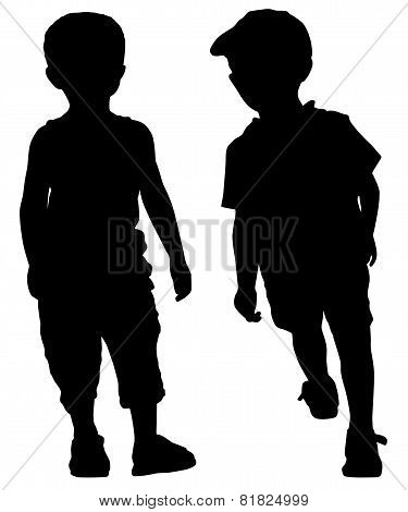 Silhouettes Of Fashion Boys