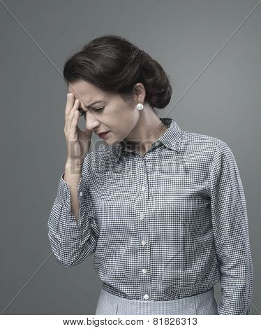 Vintage Woman With Headache
