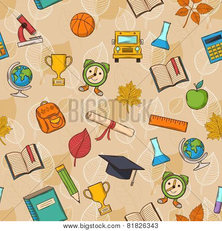 Seamless pattern Back to school