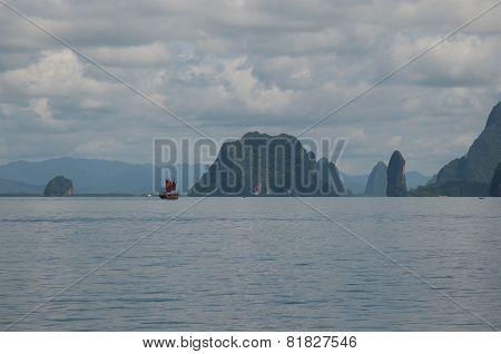 Limestone cliffs in Phang Nga Bay, Andaman Sea, Thailand