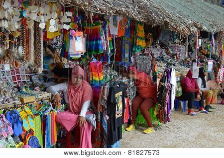 Phing Kan Island, TH-Sept,20 2014:Souvenir market on the Phing Kan Island, Thailand