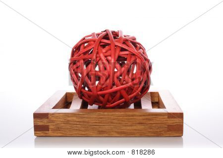 wicker ball for home decoration