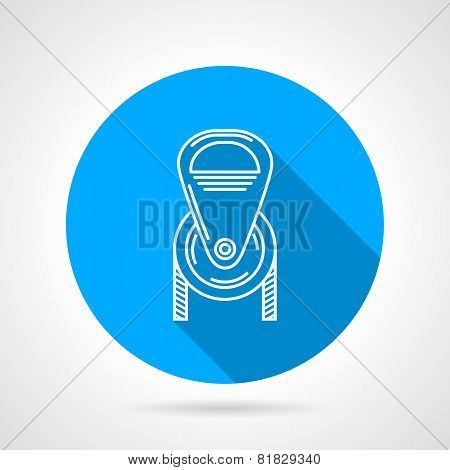 Flat round icon for pulley