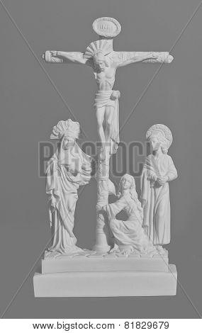 Sculptural Religious Crucifixion Scene