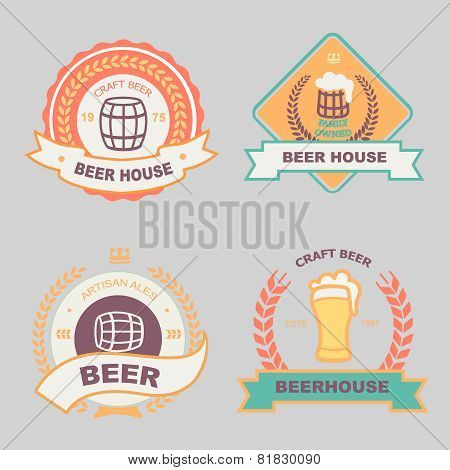 Beer bub bar label design logo