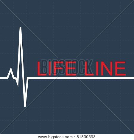 Vector life pulse line