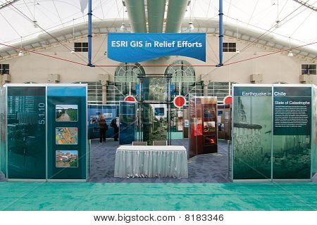 Esri Booth For Gis In Relief Efforts