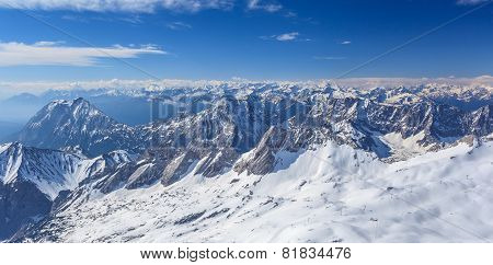 winter landscape of Alpine Alps mountain