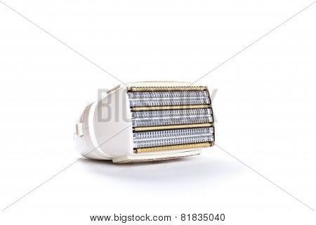 Vintage Electric Shaver On White Background