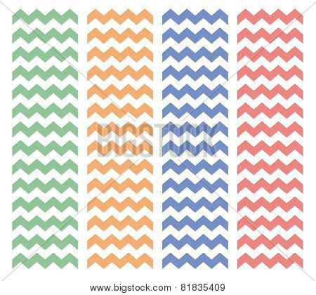 Zig zag vector tile pattern set
