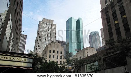 Highrise Buildings In Wall Street Financial District
