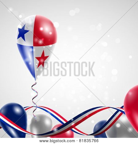 Panamanian flag on balloon