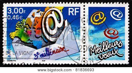 Postage Stamp France 2000 Start Of The 3Rd Millennium