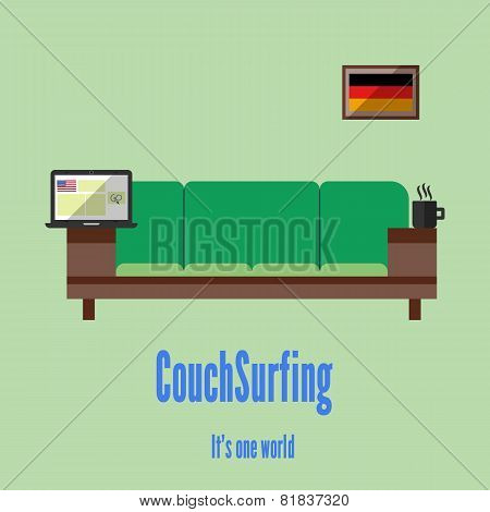 Couch surfing. Travel all over the world for free.