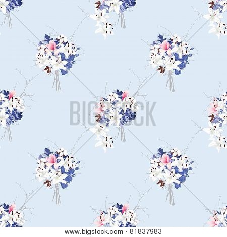 Rococo style seamless vector pattern