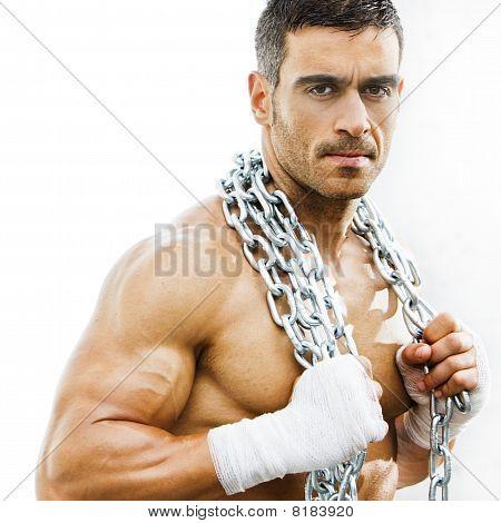 Sexy hombre grosero