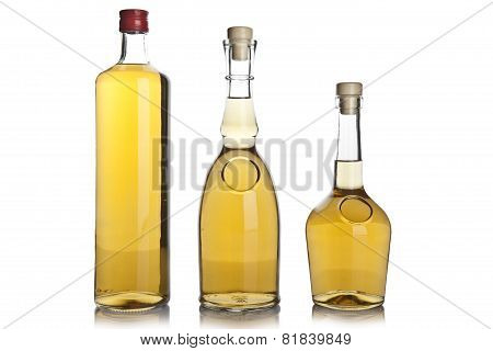 Glass Bottle Of Brandy