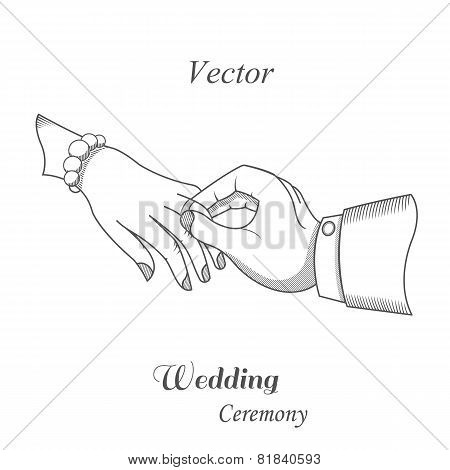 Illustration Of Wedding Ceremony