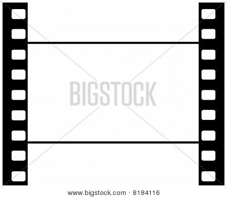 Wide Screen Cine Film Blank Frame