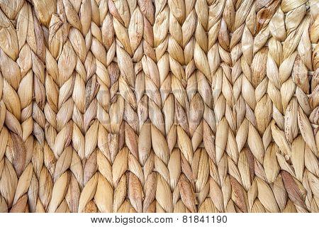 Macro of a woven basket