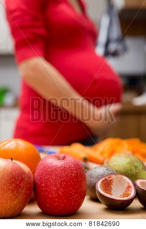 Concept: Fresh Organic Food During Pregnancy