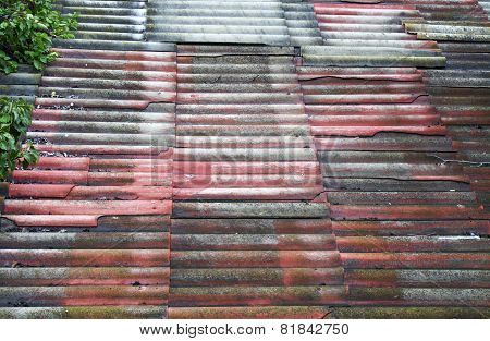 Background Of Old Roof Tiles