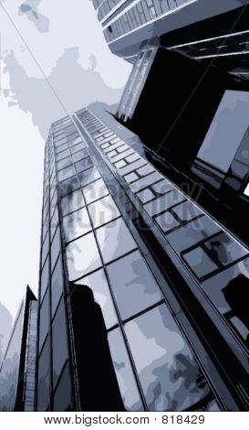Rascacielos en la ciudad
