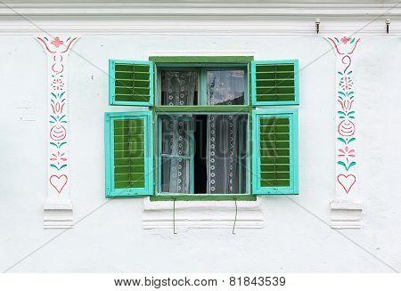 Old rustic window.