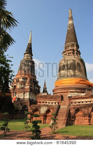 Ancient Pagoda At Watyaichaimongkol Temple