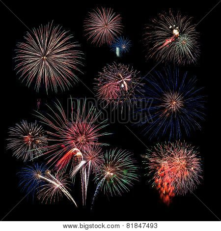 Fireworks With Corner Grouping