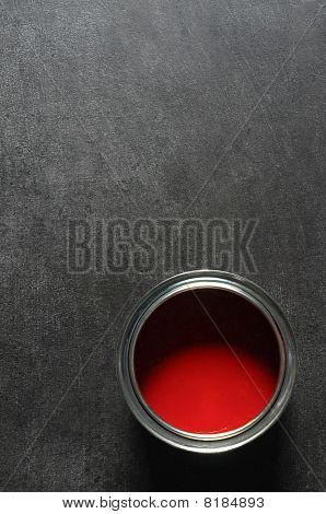 Red Paint Tin