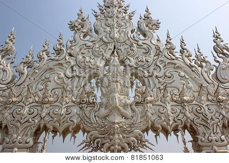 Decoration At Wat Rong Khun Or White Temple