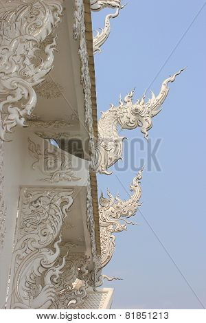 Decoration Of Wat Rong Khun Or White Temple