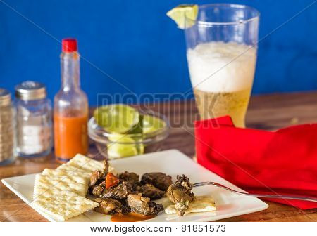 Smoked Oysters And Beer