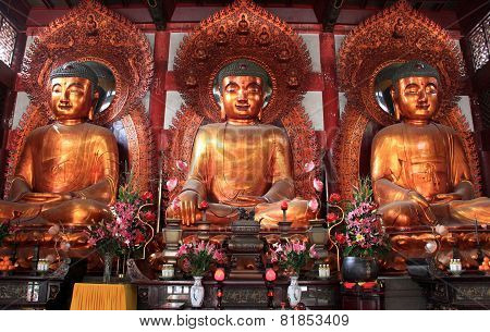 Buddha At The Temple Of The Six Banyan Trees Or Baozhuangyan Temple