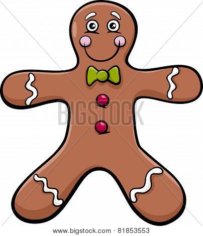 Gingerbread Man Cartoon Illustration