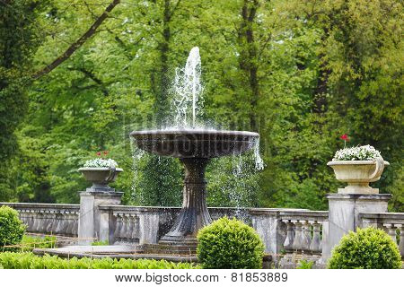 Fountain In A Park Of Sanssouci