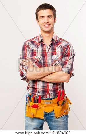 Cheerful Handyman.