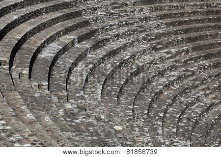 Ruins of the roman theater in Lyon