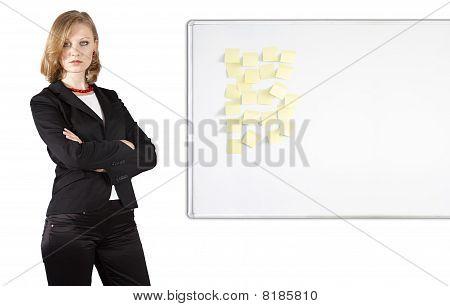 Businesswoman Near Whiteboard